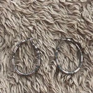 Brighton silver oval earrings